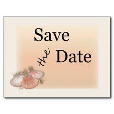 Seashells Save the Date