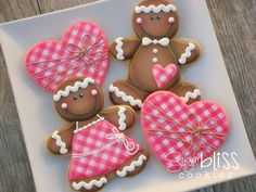 SugarBliss Cookies: Gingerbread Kids Cutest gingerbread cookies I have EVER seen!!