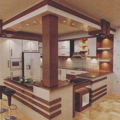 40 Awesome Craftsman Style Kitchen Design Ideas – Best Home Decorating Ideas Kitchen Room Design, Kitchen Cabinet Design, Modern Kitchen Design, Home Decor Kitchen, Interior Design Kitchen, Modern House Design, Kitchen Ideas, Kitchen Wood, Open Kitchen