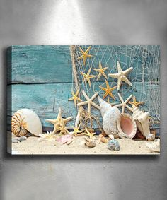 White Beach Baubles Wrapped Canvas