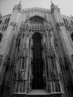 Black And White Milan Cathedral Italy Pictures
