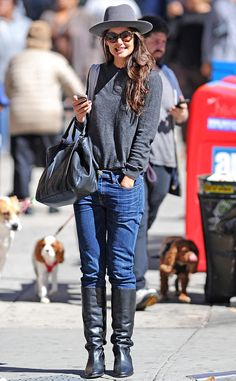 STYLE IT!  Love Katie's look?  Try CAbi FAll '13 Blue Moon Indie Jean and Bateau Neck Tee with your gorgeous boots.