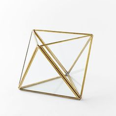 Faceted Terrariums  | gold, gold aesthetic, the color gold, gold things, everything gold, gold decor (affiliate)