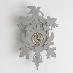 These fun clocks from FunDeco resemble a Cuckoo Clock without the Cuckoo. Making Out, Clock, Grey, Wall, Fun, Home Decor, Watch, Gray, Decoration Home