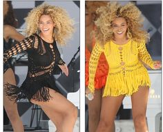 Beyonce Shows Off 2 Different Crochet Styles
