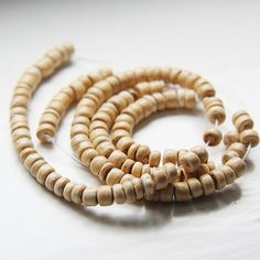 16 Inch Full Strand Coconut Wheels Beads   4mm NATURAL by clbeads, $2.25