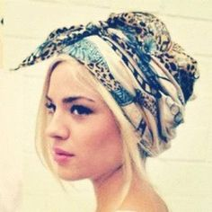 Boho Head Wrap- really want to try this - now I have a name for it ... <3