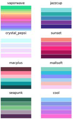color palette challenge & color palette + color palette vintage + color palette for home + color palette art + color palette bright + color palette pastel + color palette challenge + color palette blue Colour Pallete, Colour Schemes, Color Combos, Retro Color Palette, Good Color Combinations, Purple Color Palettes, Color Mixing Chart, Mixing Colours, 90s Colors