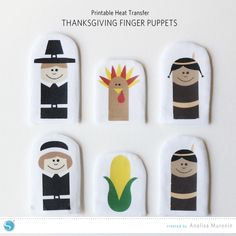 Thanksgiving Finger Puppets- They're easy to make a perfect for kids!
