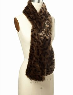 Faux Fur Keyhole Scarf from THELIMITED.com
