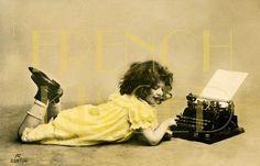 Antique French postcard #vintage