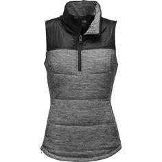 The North Face - Pseudio 1/2 Zip Vest - Women's - TNF Dark Grey Heather/TNF Black