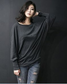 New 2014 free fat people women ladies big size female long sleeved Korean batwing sleeve loose T shirt tshirts tops 585 4xl 5xl-inT-Shirts from Apparel & Accessories on Aliexpress.com | Alibaba Group