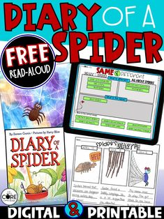 Free digital and printable interactive read-aloud- comprehension questions, graphic organizers, writing, and craft.  Great for subs!