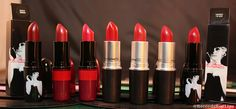 My Red Lipsticks - MAC - Deeply Adored, Racy, Adore It, MAC Red, Lady Bug, Ruby Woo, Charmed I'm Sure