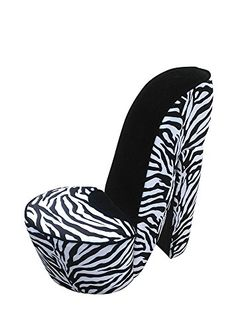 Buy Small High Heel Shoe Chair With Zebra Print For Sale Online In USA U0026  Canada.