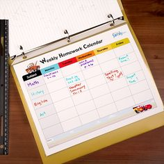 Free Printable Weekly Homework Calendars