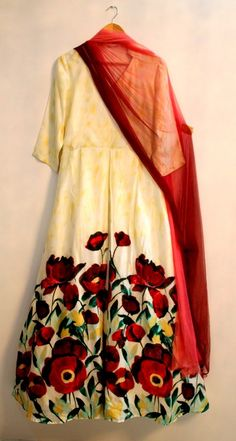 Flower Anarkali Dress <3