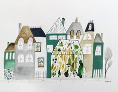 """Check out new work on my @Behance portfolio: """"Botanical town"""" http://be.net/gallery/62261421/Botanical-town"""