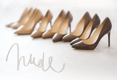 Not just one kind of nude, thank you Christian Louboutin and thanks Garance Dore Nude Shoes, Nude Pumps, Shoes Heels, Work Heels, Louboutin Shoes, Christian Louboutin, Dream Shoes, Trends, Shoe Closet