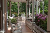 Victorian porch - The Beaufort House Inn Bed and Breakfast - Asheville, North Carolina