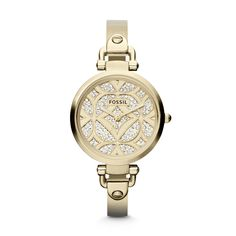 Fossil Georgia Three Hand Stainless Steel Watch - Gold-Tone
