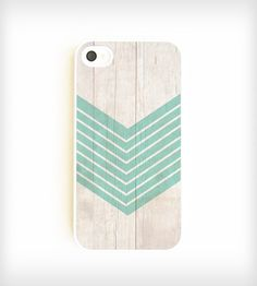 Faux Wood Geometric iPhone Case - Aquamarine | Gear & Gadgets iPhone | On Your Case | Scoutmob Shoppe | Product Detail