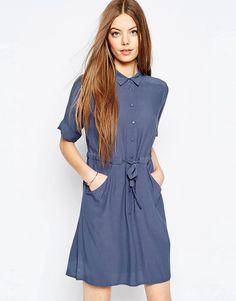 Приталенное платье-рубашка ASOS