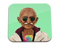 Hipstory | Mahatma Gandhi Wooden Coaster | BellaKoola - Cool Design Gifts & Lifestyle Shop – bellakoola - Cool Design & Lifestyle Shop