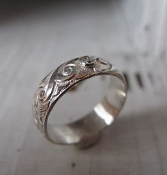 Vintage Engagement Ring by HotRoxCustomJewelry on Etsy, $190.00