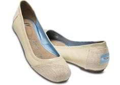 Tom's New Alessandra Natural Leather Ballet Flats