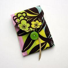 Card Case / Business Card / Gift Card Fabric by TwiggyandOpal, $7.00