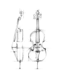 Cello Sketch Reprodukcje autor Ethan Harper You are invited to visit http://incrediblesketches.blogspot.com
