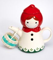Little Red Riding Hood Tea Pot  $44  If she gets my red hair I shall reward her with this teapot.