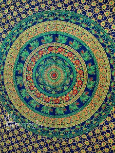 Hippie Mandala Floral TapestryHippie Wall HangingCotton by Sparshh, $12.99
