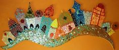 This would be fun to do with trees Mosaic Artwork, Mosaic Wall Art, Mosaic Diy, Mosaic Crafts, Mosaic Projects, Mosaic Glass, Mosaic Tiles, Stained Glass, Glass Art