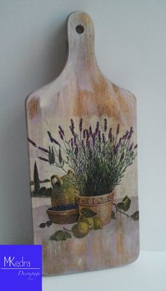 Decorative cutting kitchen board with lavender gift Provence mediterranean decoupage board #handmade #ringbox