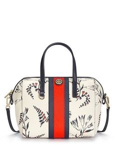 Find chic Mother's Day gifts on toryburch.com like this Tory Burch Kerrington Stripe Satchel