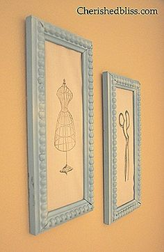 Cute wall decor for sewing room