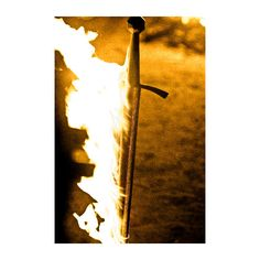 Prop Closeup Beric's Flaming Sword ❤ liked on Polyvore featuring fight