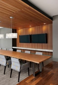 RMW Architecture and Interiors for Brocade Communications Systems HQ in San Jose, CA. Photo by Bernard André Photography. Wood Slat Ceiling, Wood Slat Wall, Wooden Wall Panels, Wood Ceilings, Wood Slats, Wooden Walls, Interior Walls, Home Interior, Interior Design