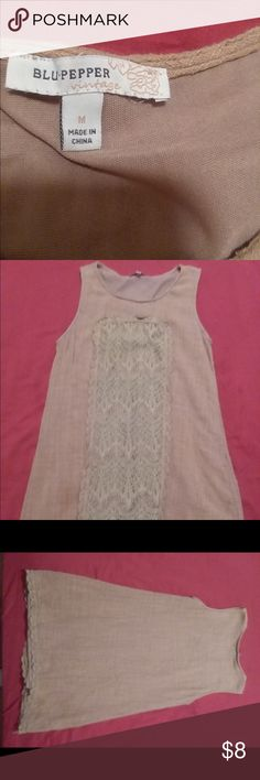 Sleeveless mocha tunic... This mocha colored tunic is perfect for spring. Blu Pepper Tops Tunics
