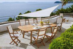 Parasols, Outdoor Furniture Sets, Outdoor Decor, Landscape, Design, Ivoire, Home Decor, Rooms, Gardens