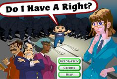 """Do I Have a Right?"" game to learn about the Bill of Rights and the Constitution."