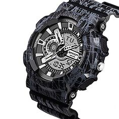 Soleasy Mens Camouflage Fashion Sport Analog Digital Double Time Quartz Wrist WatchBlack WTH3509 ** For more information, visit image link.Note:It is affiliate link to Amazon.