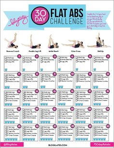 Ab and Water Challenge -Blogilates-
