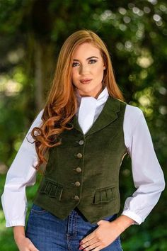 This highly tailored blouse is made with a soft Japanese cotton and just a little elastane for a comfortable fit and a super smooth finish.The clever multi-tie neck allows for a pussy bow or elegant equestrian styling. Vest And Tie, Girl Fashion, Fashion Outfits, Jackets For Women, Clothes For Women, Business Outfits, Casual Outfits, How To Wear, British Country