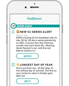 theSkimm App preview
