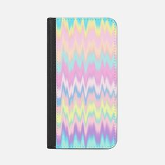 Pastel Candy Tie Dye Waves  iPhone 7 Plus Wallet Case