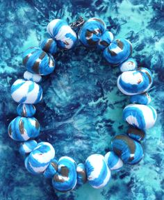 Fabric beads by East Side Bags